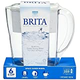 Brita Space Saver 48 oz Water Filter Pitcher, White 1 ea ( Pack of 12)