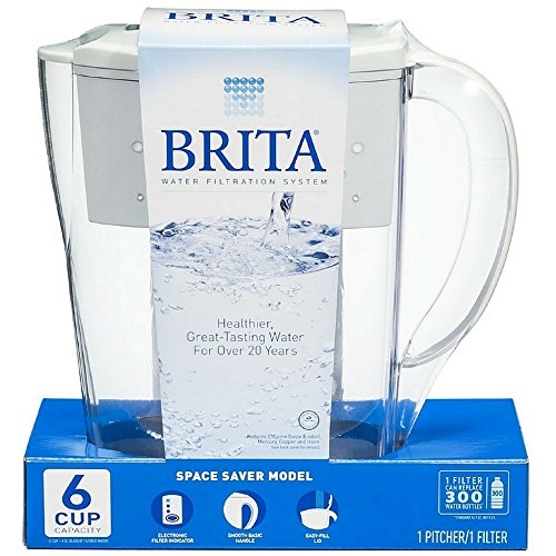 Brita Space Saver 48 oz Water Filter Pitcher, White 1 ea ( Pack of 12) by Brita