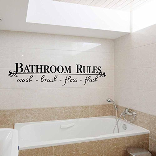 PHOTNO Removable DIY Wall Sticker Mural Home Decal Decor For Bathroom