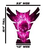 Large Universal Exploding Skull Pink 3D Gel Sportbike Motorcycle Gas Tank Pad Tankpad Protector Guard