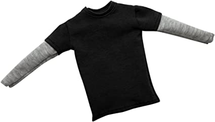 1:6 Men Long Sleeve T-shirt Gray Sleeve for 12/'/' Hot Toys//Sideshow Figures