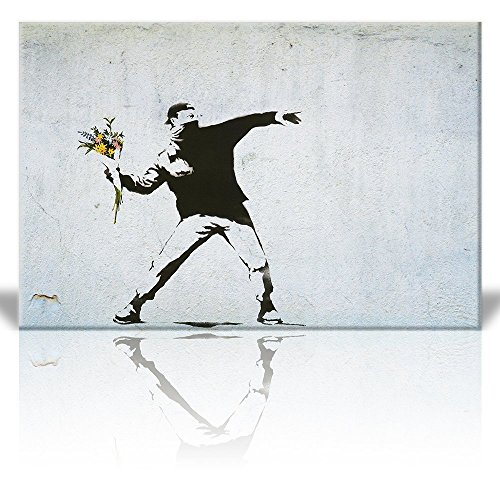 Print Rage the flower thrower Street Art Guerilla Banksy Street Artwork