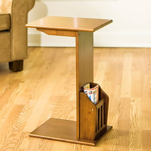 FurnitureMaxx Rorrid Magazine Snack Table, Mission Oak