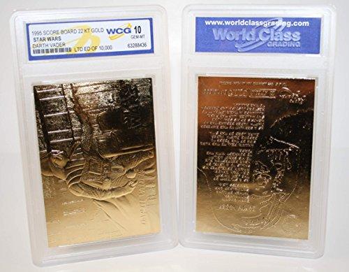 - Star Wars DARTH VADER 23KT Gold Card Sculptured #/10,000 - Graded GEM MINT 10