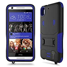 Desire 626 Case, CoverON® [DuraShield Series] Drop Proof Phone Cover Grip + Bumper + Stand Hybrid Case For HTC Desire 626 / 626s - Blue / Black