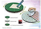 Two-In-One Rotating Mat For Cutting And Ironing Purposes, 2 in 1 Multi-Function Intergrated Set,Cutting Mat And Ironing Pad,Innovative Waterproof Fabric,Flower Color Random