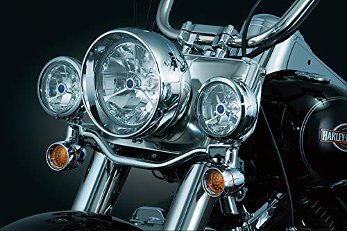 Kuryakyn 5011 Motorcycle Lighting Accessory: Bullet Style Front Turn Signal/Blinker Light Conversion Kit, Chrome, 1 Pair