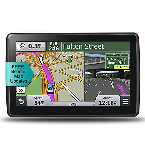 LONGRUF Car GPS Navigation, 7-inch HD Touch Screen& 8G-128MB Memory, Voice Broadcast GPS Navigation System, Including Multi-Function Car Charger – Lifetime Map Update