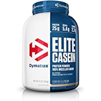 Dymatize Slow Absorbing Elite Casein Protein Powder with Muscle Building Amino Acids, 4 Pound