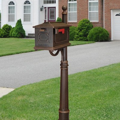 (Kingston Curbside Mailbox with Ashland Mailbox Post Unit Color: Copper)