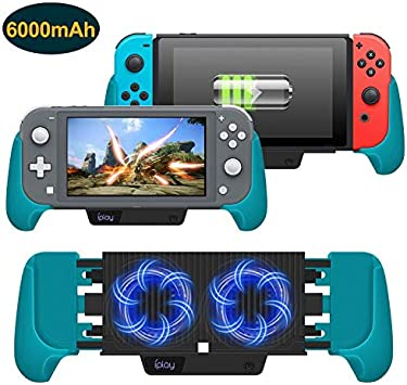 Amazon Com Cooling Charging Grip For Nintendo Switch Switch Lite 4 In 1 Accessories Works As Fan Charger Grip And Foldable Stand For Nintendo Switch Lite And Nintendo Switch Blue Electronics