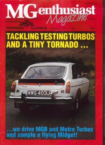 - MG ENTHUSIAST MGB Metro Turbo Midget MGC 1600 MG Maestro 2-3 1988