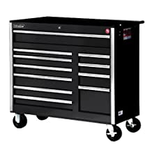 International VRB-4211BK 42-Inch 11 Drawer Black Tool Cabinet with Heavy Duty Ball Bearing Slides