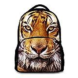 Animal School Bag Children's Age6-16 Polyester 17 Inch Laptop Backpack (Tiger)