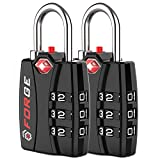 Forge TSA Approved Luggage Locks 2 Pack - Open