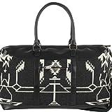 Pendleton Women's Tsi Mayoh Wool Jacquard Getaway Bag, Tsi Mayoh, Black, One Size