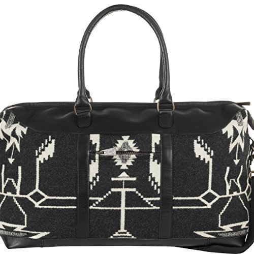 Pendleton Women's Tsi Mayoh Wool Jacquard Getaway Bag, Tsi Mayoh, Black, One Size by Pendleton