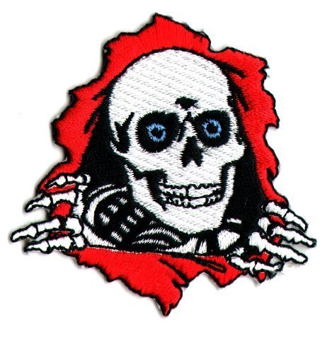 Powell Peralta Ripper Skateboard Patch - Iron / Sew on - 6.5 X 6.5cm