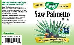 Nature\'s Way Saw Palmetto Berries, 585mg, 180 Capsules