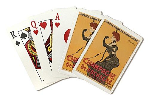 Champagne de Rochegre Vintage Poster (artist: Cappiello, Leonetto) France c. 1902 (Playing Card Deck - 52 Card Poker Size with - Cappiello Champagne Leonetto