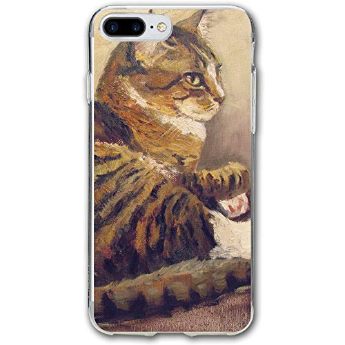 (Cat Painting Resistant Cover Case Compatible iPhone 7 Plus iPhone 6 Plus)