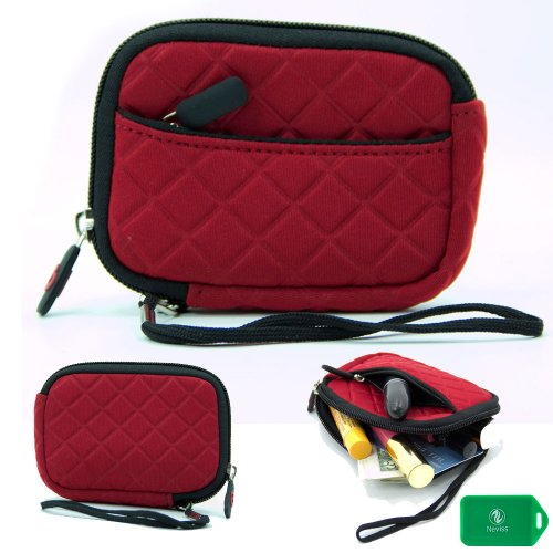 Cosmetic Case Lipstick Pouch in Red