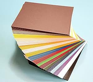 Amazon Com Pack Of 100 Mixed Colors 7 5 Quot X9 5 Quot Uncut Mat