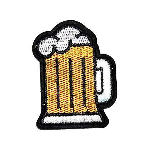 Nipitshop Patches Beer Bubbles Glass Drink Cocktail Drink Party Cartoon Kids Patch Embroidered Iron On Patch for Clothes Backpacks T-Shirt Jeans Skirt Vests Scarf Hat Bag