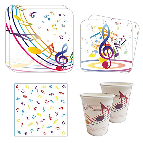 Music Party Standard Party Packs (65+ Pieces for 16 Guests!), Music Birthday Decorations, Music Party Supplies (Musical Birthday Party)
