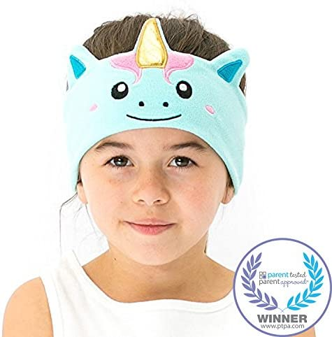 CozyPhones Kids Headphones for Girls Volume LimitedThin Speakers & Super Soft Stretchy Headband - Perfect Toddlers & Children\u2019s Earphones for Home School & Travel - Mystic Unicorn