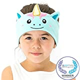 CozyPhones Kids Headphones Volume Limited with Ultra-Thin Speakers Soft Fleece Headband - Perfect Childrens Earphones for School, Home and Travel - MYSTIC UNICORN