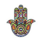 yoga car decal - Hamsa Sticker Colorful Hand Decal By Megan J Designs - Laptop Sticker Tumbler Decal Vinyl Sticker