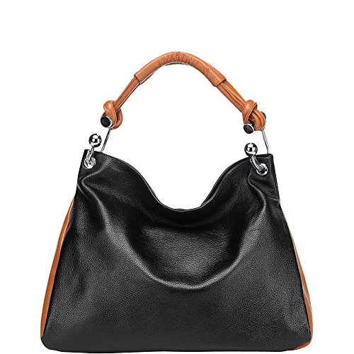 melissa-leather-tote-shoulder-handbag-black-brown