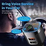 VicTsing 2021 V5.0 Bluetooth FM Transmitter for