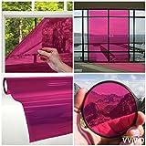 VViViD Transparent Colorful Vinyl Window Tinting Sheets (1.49ft x 5ft, Pink)