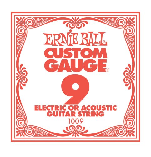 Ernie Ball Plain Steel, Single Strings, .009