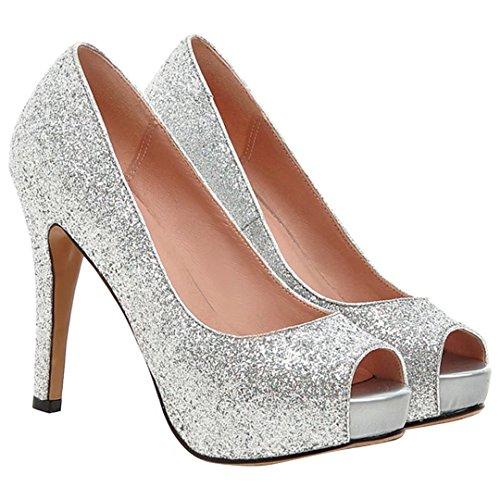 Aiguilles Aiyoumei Femme Velours Talons Plateforme Élégant Chaussure qHwSEnWCg