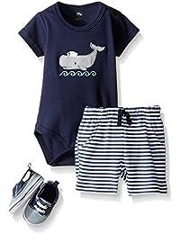 Hudson bebé Boys '3 piezas Juego de zapatas Bodysuit, corto,