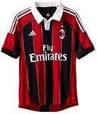 AC Milan Soccer Home Jersey, Medium, Red/Black/White