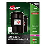 Avery UltraDuty GHS Chemical Labels for Laser Printers, Waterproof, UV Resistant, 8.5