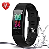 Deyawe Fitness Tracker,Colorful Screen Activity Tracker with Heart Rate Monitor,Waterproof Pedometer Watch, Sleep Monitor, Stopwatch,Step Counter for Kids Women Men