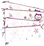 crib bumper owl girl - Baby's First by Nemcor 4 Piece Versatile Crib Bumper