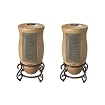 Lasko 1500W Designer Series Decorative Base Oscillating Ceramic Heater (2 Pack)