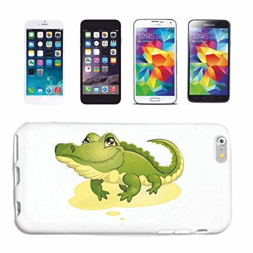 """cas de téléphone iPhone 7+ Plus """"CROCODILE ALLIGATOR HEAD GATORS"""" Hard Case Cover Téléphone Covers Smart Cover pour Apple iPhone en blanc"""