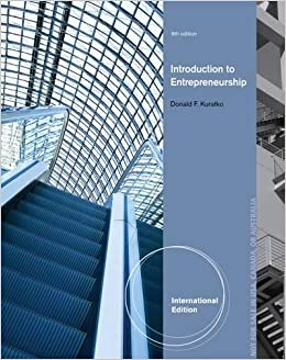 Introduction To Entrepreneurship Donald F Kuratko Pdf