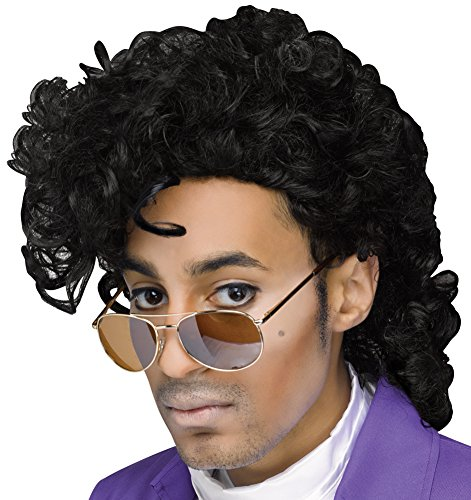 Fun World Men's Purple Pain Wig, Black, -