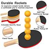FBSPORT Ping Pong Paddle Set, Portable Table Tennis