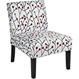 Red Hook Furniture Martina Contemporary Armless Fabric Accent Chair - Floral