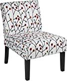 Red Hook Furniture Martina Contemporary Armless Fabric Accent Chair – Floral