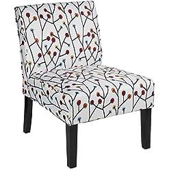 Farmhouse Accent Chairs Dorel Living Teagan Armless Accent Chair farmhouse accent chairs